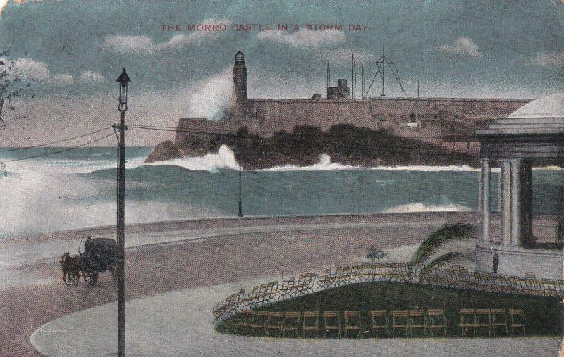 CUBA, PU-1910; The Morro Castle In A Storm Day