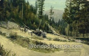 Corkscrew Drive, Tunnel Mountain Banff, Canadian Rockies Canada 1915 Missing ...