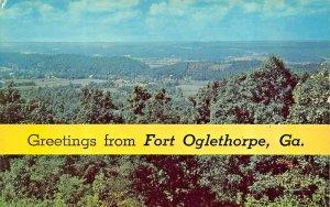 GREETINGS FROM FORT OGLETHORPE GEORGIA POSTCARD