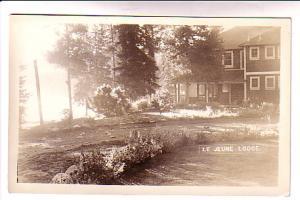 Real Photo, Le Jeune Lodge, Quebec,