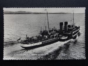 Shipping Craigendoran Clyde Steamer P.S. JEANIE DEANS c1950's RP Postcard