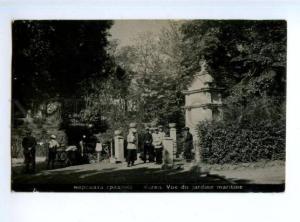 173263 BULGARIA VARNA garden & seller Vintage photo postcard
