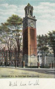 PROVIDENCE , Rhode Island , 1901-07 ; The Carrie Tower , Brown University