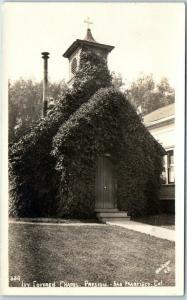 San Francisco CA RPPC Postcard IVY COVERED CHAPEL - PRESIDIO Weidner Photo 1920s