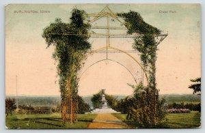Burlington Iowa~Crapo Park Ivy Vine Covered Arch~Path to Drinking Fountain~1907