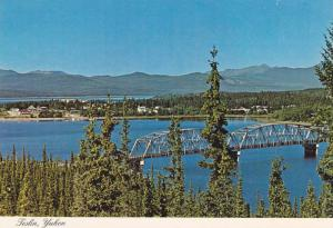 Scenic View, The Nisutlin Bay Bridge, Longest Bridge on Alaska Highway, Tesli...