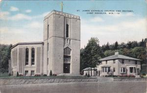 CAMP DOUGLAS, Wisconsin, 1930-1940's; St. James Catholic Church and Rectory