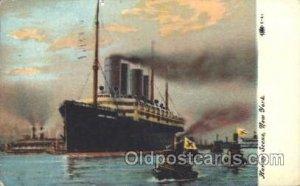 Kaiser Wilhelm II in Port, Harbor Scene, New York, USA Ocean Liner, Ship 1910...