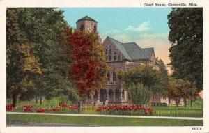 Greenville Mississippi Court House Exterior Vintage Postcard J926867