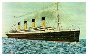 R.M.S. Titantic , White Star Line  , Artist Drawn
