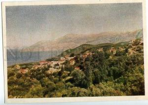 130969 ALBANIA Riviera old postcard