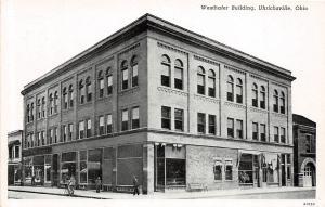 B17/ Uhrichsville Ohio Postcard c1930s Westhafer Building Store People