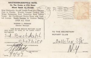 RP: MIAMI , Florida ; 1947 ; Macfadden-Deauville Hotel