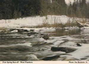 West Flamboro First Spring Run Off Canada Specator Newspaper Postcard