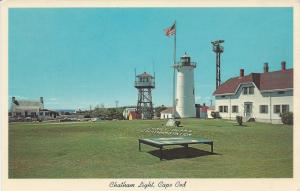 Chatham Light House, Cape Cod, Massachusetts, postcard, unused