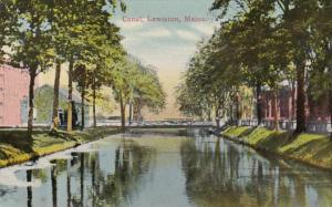 Maine Lewiston Canal Scene 1913