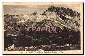 Old Postcard The Route du Galibier Col du Galibier
