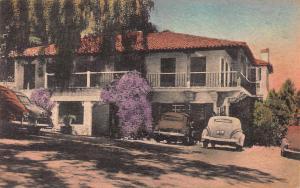 Bath House, Glen Ivy Hot Springs, Corona, California, Early Postcard, Unused