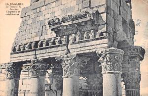 Baalbek, Syria Postcard, Syrie Turquie, Postale, Universelle, Carte Le Temple...