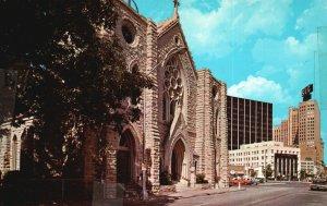 Fort Worth, TX, Saint Patrick's Cathedral, 1967 Chrome Vintage Postcard g9063