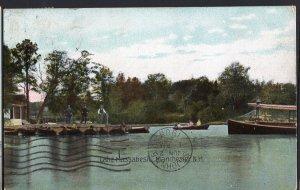 New Hampshire ~ Lake Massabesic MANCHESTER pm1908 Vintage - Divided Back