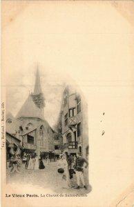CPA PARIS EXPO 1900 - Le Vieux Paris Le Chevet de St Julien (308134)