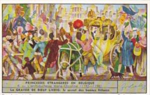 Liebig Trade Card S1518 Foreign Princesses In Belgium No 6 L'Archiduchesse Ma...