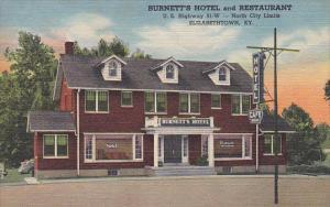 Kentucky Elizabethtown Burnetts Hotel and Restaurant Curteich