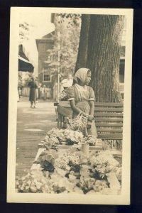 Nantucket, MA/Masschusetts/Mass Postcard, Flower Girl, Cape Cod, Collins Photo
