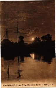 CPA PAIMPOL - Effet de nuit dans le Port (243603)