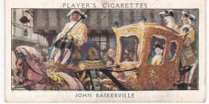 Cigarette Card Player's Dandies No 17 John Baskerville
