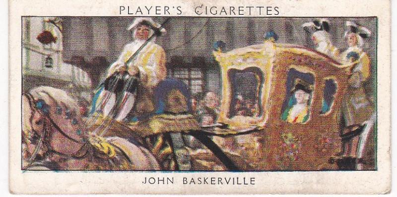 Cigarette Card Player's Dandies No 17 John Baskerville