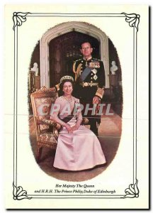 Modern Postcard Her Majesty The Queen and HRH The Prince Philip Duke of Edinb...