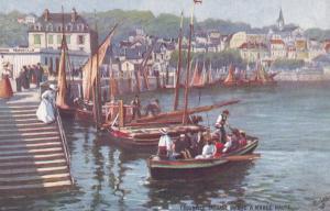 TROUVILLE, France, 1900-10s; Passage Du Bac A Maree Haute; TUCK Serie 119 No. 6