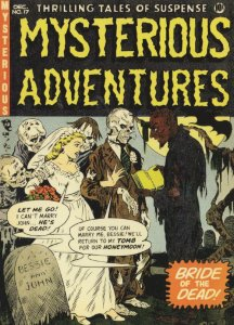Skeleton Marriage Honeymoon In Tomb Mysterious Adventures Postcard