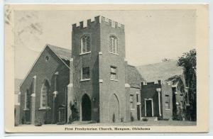 First Presbyterian Church Mangum Oklahoma 1948 postcard