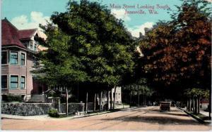 JANESVILLE, WI Wisconsin    MAIN  STREET  SCENE    1914    Postcard