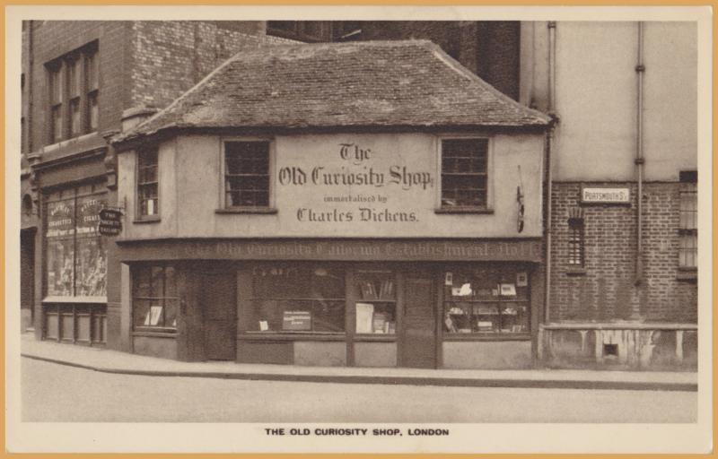 London, U.K- Yhe Old Curiosity Shop, founded by Charles Dickens-W. Straker, Ltd.