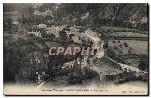 Old Postcard The Alps Mancelles Saint Leonard Vue Generale
