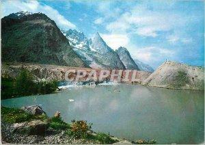 Postcard Modern Courmayeur 1224 m Val veny lago miage 2020