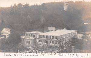 Ludlow Vermont~Jewel Brook Woolen Mill~Factory~Mamie Going thru Monday~1906 RPPC