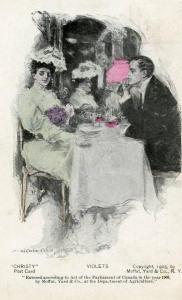 Violets  *Artist: Howard Chandler Christy   (PRIVATE MAILING CARD)