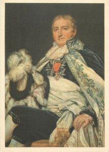 Postcard painting Louis David xvi siecle francaise portrait un conte de Nantes