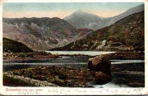 Wales Snowdon From Llyn Llydaw 1906