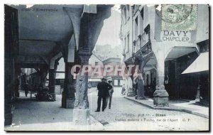 Postcard Old Dinan Old houses has Porch street I Aport
