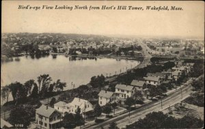 Wakefield MA Birdseye View North From Hart's Hill Tower c1915 Postcard