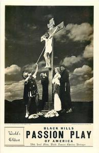 RPPC of Black Hills Passion Play of American, Spearfish, SD