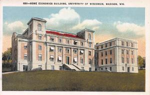 Home Economics Bldg., University of Wisconsin, Madison, early postcard, unused