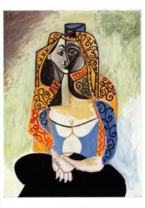 Pablo Picasso Art Print Postcard, The Turkish Shawl 1957 44O