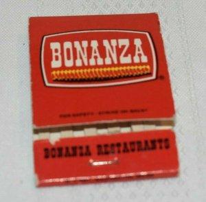 Bonanza Family Restaurants Red 20 Strike Matchbook